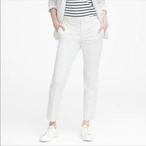 Banana Republic White Ryan Slim Pant Size 4
